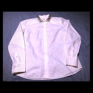 J. Crew jewel collar boy blouse